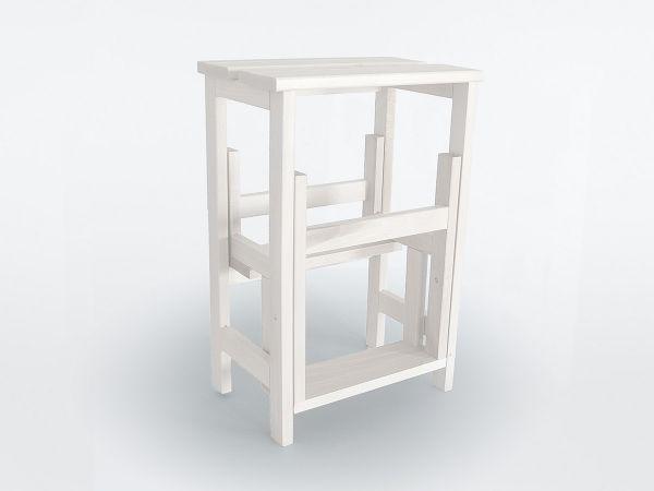 Design Hockerleiter Weiß