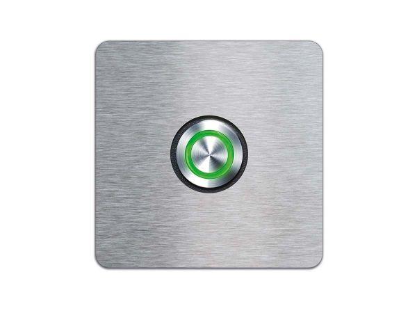 Türklingel mit LED-Leuchtring Grün
