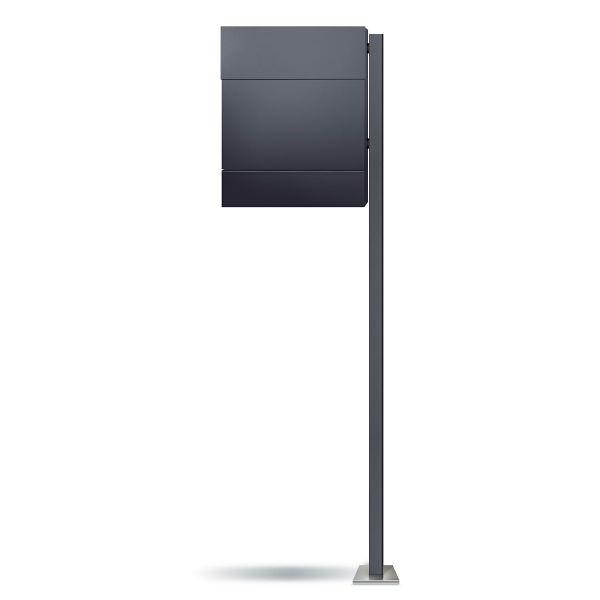 Standbriefkasten Letterman 5 Anthrazit (RAL 7016) inkl. LED Licht