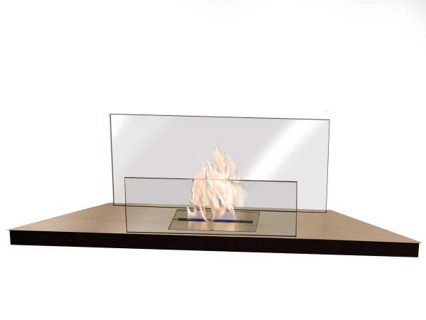 Ethanol Kamin Corner Flame Radius Design