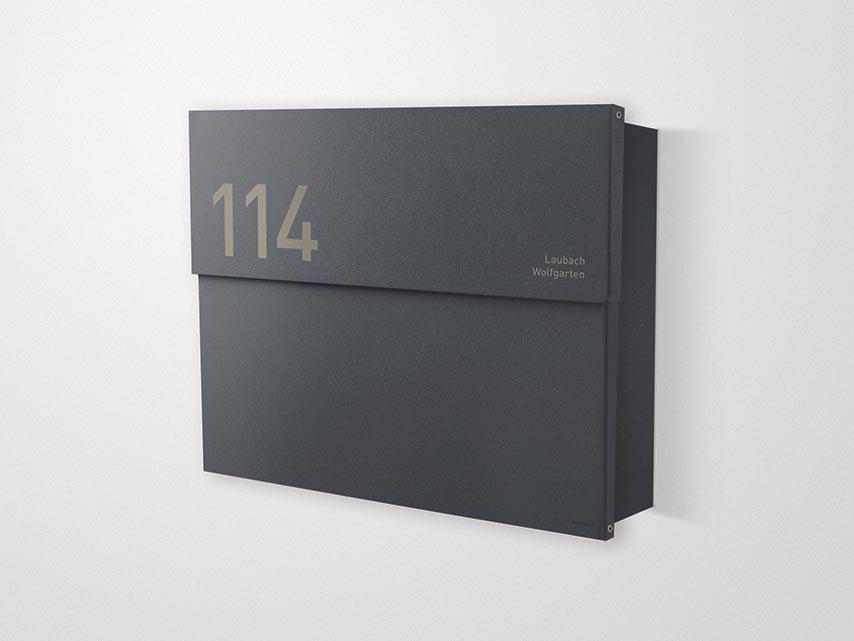 Briefkasten Letterman XXL 2 Anthrazit von Radius Design | designbowl