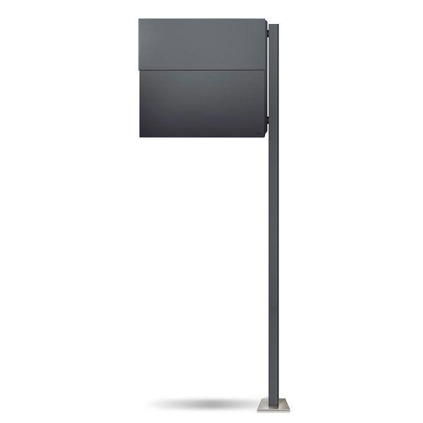 Standbriefkasten Letterman XXL 2 Anthrazit (RAL 7016) inkl. LED Licht