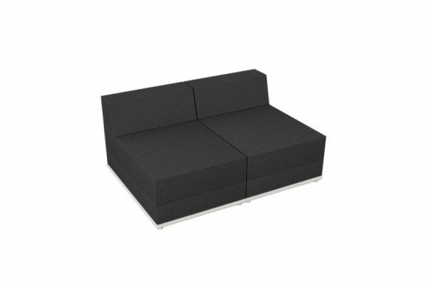 Element mit zwei Sitzplätzen Anthrazit