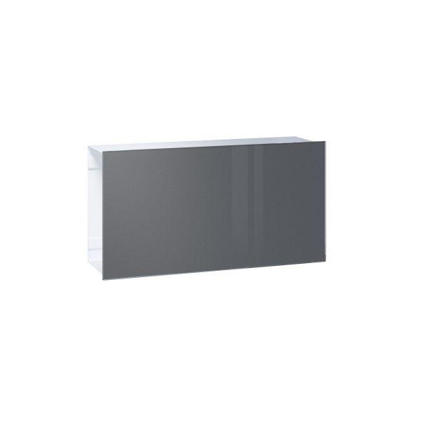 Zeitungsfach Flat - Front Glas / Korpus weiß
