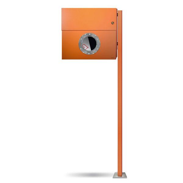 Standbriefkasten Letterman XXL K orange mit Klingel orange