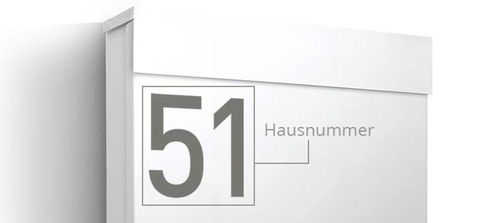 Briefkasten Letterman M mit optionaler Namensgravur | designbowl