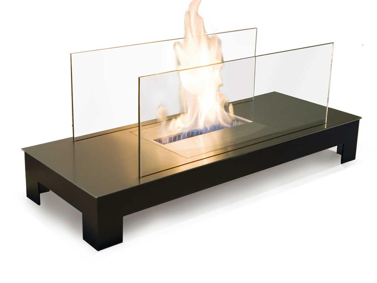 Ethanol Kamin Floor Flame Radius Design