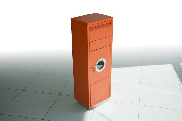 Paktbriefkasten mit Bullauge Orange