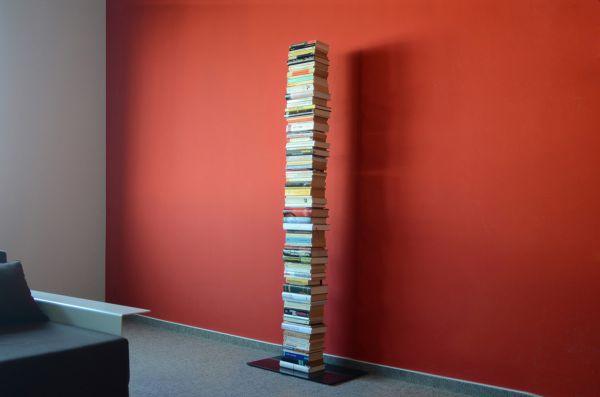 Booksbaum 2 Stand groß Schwarz mit Bücher