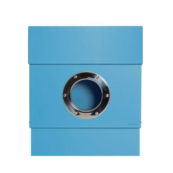 Briefkasten Letterman 2 Blau Frontal