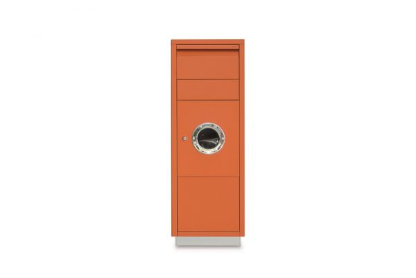 Paktbriefkasten Letterman Standing Ovation 1 mit Bullauge Orange