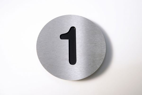 Hausnummer Edelstahl Farbe Schwarz 1