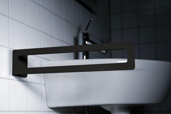 Handtuchhalter klebend in Schwarz von Radius Design