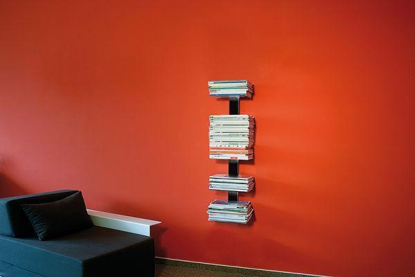 Booksbaum Magazin Wand klein Schwarz