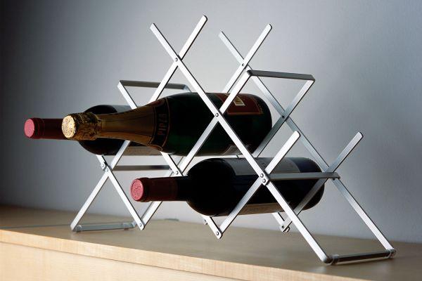 Weinregal aus Aluminium für 10 Flaschen