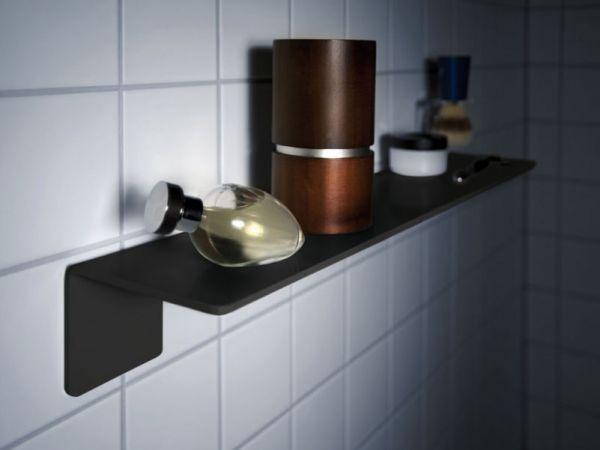 Badregal von Radius Design in Schwarz